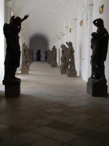 Baroque statues in Kladruby Monastery