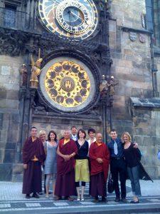 Tibetan buddhist lamas in Prague