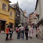 cesky krumlov day trips from prague: Latran street in Cesky Krumlov