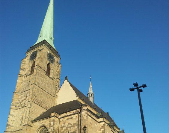 Climb the church tower in Pilsen