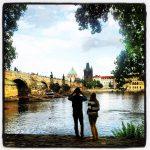 Gothic Charles Bridge in Prague