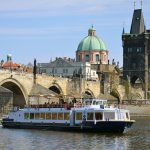 Prague is a very busy turist destination and you can get to the very historical center without having to join the crowds only by means of a romantic boat ride.