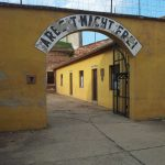 "Terezin Concentration Camp - Sign ""Arbeit Macht Frei"""